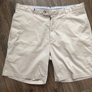 Peter Millar Mens Shorts sz 40 Beige Club Golf